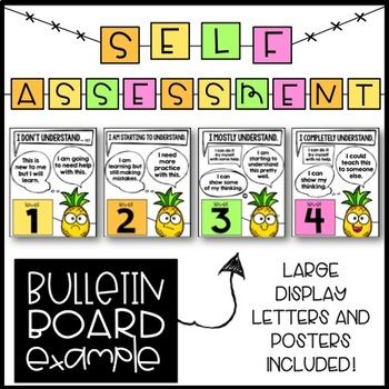 Student Assessment Posters - Levels of Understanding (Pineapples)