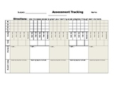 Student Assessment Tracking Sheet