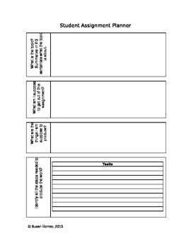Student Assignment Organizer