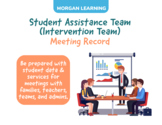Student Assistance Team / Intervention Team Meeting Record