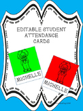 Student Attendance  Cards (Editable)