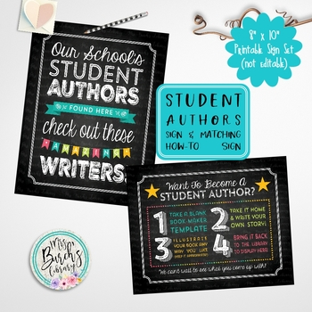 Student Authors Sign Set