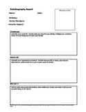 Student Autobiography Template