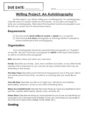 Student Autobiography Writing Project