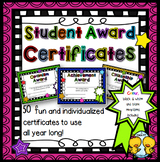 Student Award Certificates #2 (Editable)