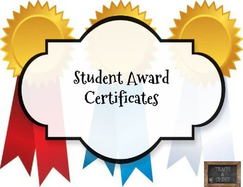 Student Award Certificates - EDITABLE!