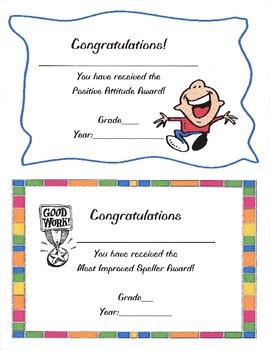 Student Award Certificates or Templates