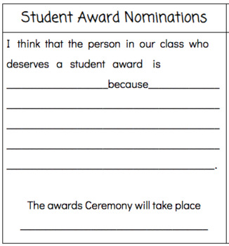 Student Award Nominations