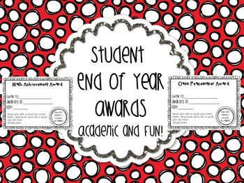 Student Awards 45 Certificates for End of the Year Celebra