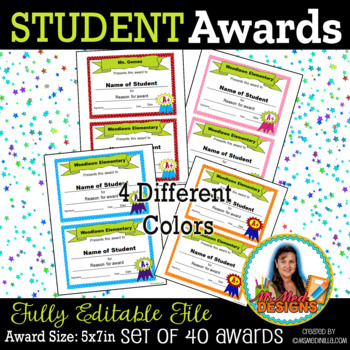 Student Awards Back to School Awesome Digital File Instant Download SET of 8