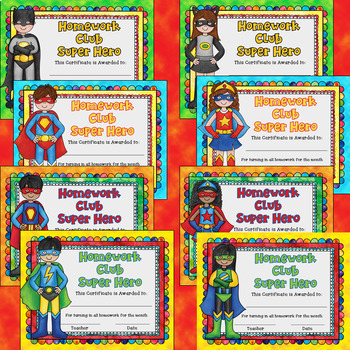 Student Awards Bundle Math AR Reading Homework