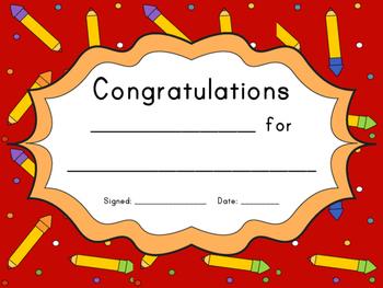 Student Awards / Certificates