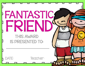 Student Awards {Color & Black Line} with Boy/Girl Versions!