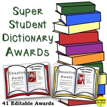 Editable Student Awards