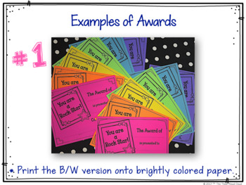 Student Awards {Throughout the Year}