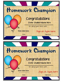 Student Awards- Great for any time of year