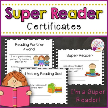 Reading Award Certificates