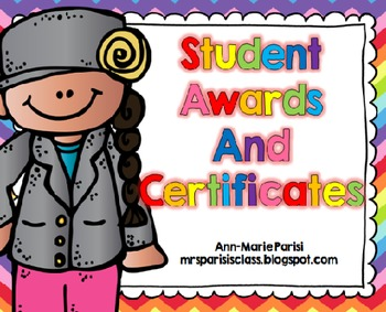 Student Awards and Certificates