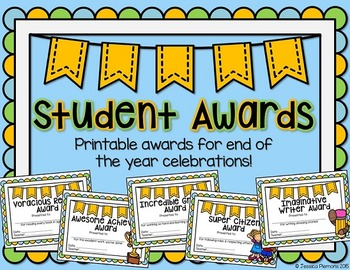 picture about Printable End of the Year Awards for Students named Printable Awards For The Close Of The Calendar year Worksheets TpT