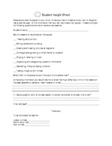 Student Background Sheet for Parents