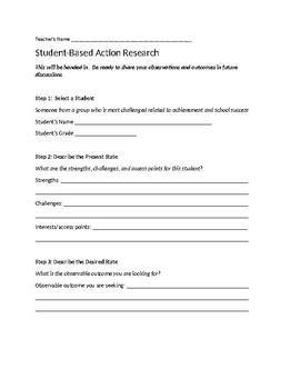 Student-Based Action Research