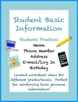 Student Basic Demographic Information Practice