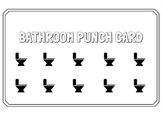 Student Bathroom Punch Card