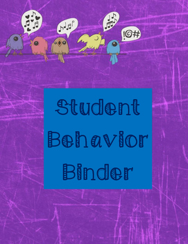 Student Behavior Binder Set