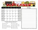 Student Behavior Calendar August 2015 - July 2016