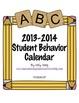 Student Behavior Calendar (Vertical) August 2013 - July 2014