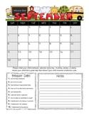 Student Behavior Calendar (Vertical) August 2014 - July 2015