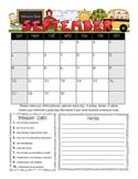 Student Behavior Calendar (Vertical) August 2015 - July 2016