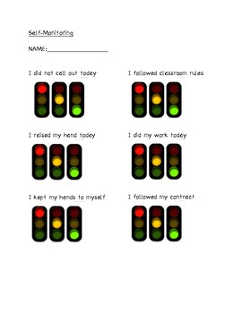 Student Behavior Chart
