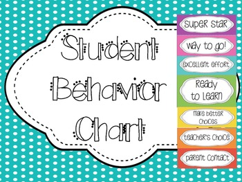 Student Behavior Chart {Clip system- chevron}