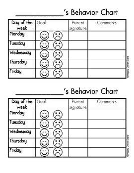 Student Behavior Chart (Parent Communication Form)