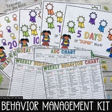 Classroom Management Tool: Weekly Behavior Charts + Tally Sheets