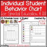 Individual Student Behavior Chart & Graph: Special Education & RTI Documentation