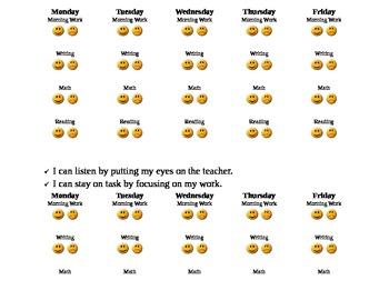 Student Behavior Chart for desk (editable)