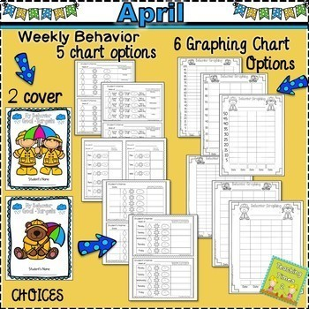 Student Behavior Charts and Graphing Data Tracking- APRIL