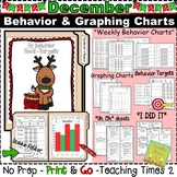 Student Behavior Charts and Graphing Data Tracking- DECEMBER