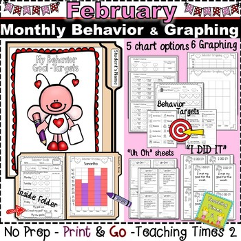 Student Behavior Charts and Graphing Data Tracking- February