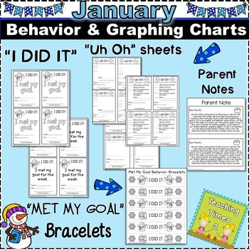 Student Behavior Charts and Graphing Data Tracking- JANUARY