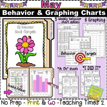 Student Behavior Charts and Graphing Data Tracking- MAY