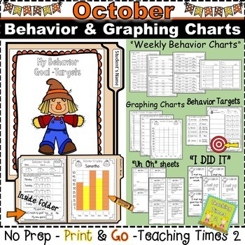 Student Behavior Charts and Graphing Data Tracking- OCTOBER