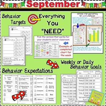 Student Behavior Charts and Graphing Data Tracking- SEPTEMBER
