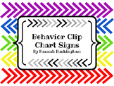Student Behavior Clip Chart Signs {Freebie}