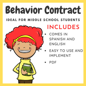 Student Behavior Contract - In English and Spanish