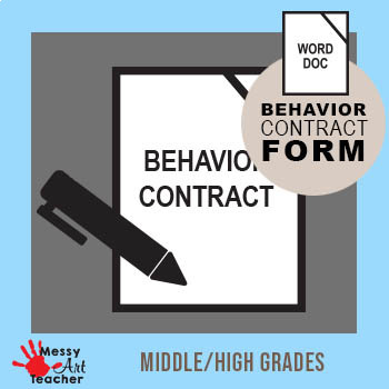 Student Behavior Contract for Middle/High School
