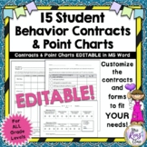 Behavior Contracts and Behavior Point Charts (Fully Editab