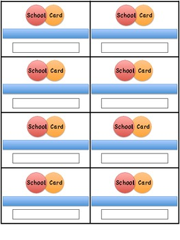 Student Behavior Credit Card